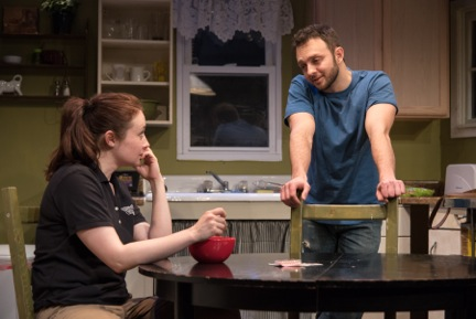 Vanessa Vache and James Kautz in Utility at Rattlestick Playwrights Theatre. Photo: Russ Rowland.