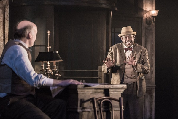 Frank Wood and Forest Whitaker in Hughie at Booth Theatre. Photo: Marc Brenner.