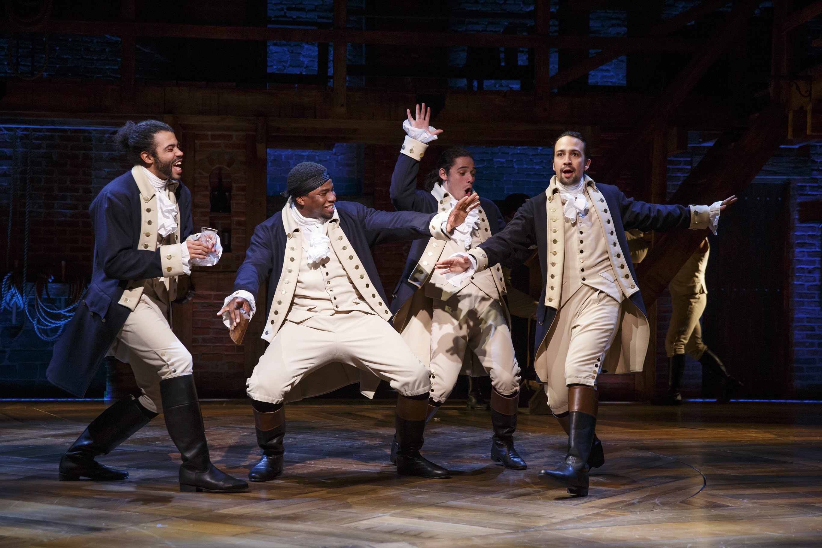 Hamilton, whose cast had a highly publicised altercation with Mike Pence in December. Photo: Joan Marcus