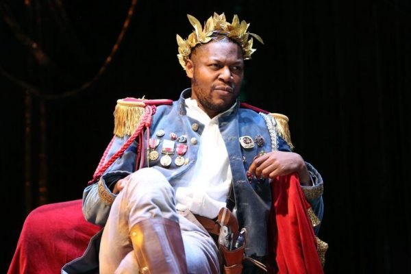Obi Abili as the Emperor Jones. Photo: Carol Rosegg