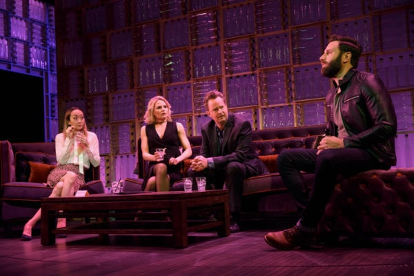 Sue-Jean Kim, Jennifer Morrison, Matthew Perry and Quincy Dunn Baker in The End of Longing. Photo: Joan-Marcus