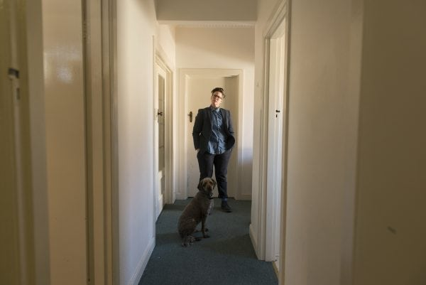 Hannah Gadsby and her dog Douglas (who does not appear in the show) (Photo: Alan Moyle)
