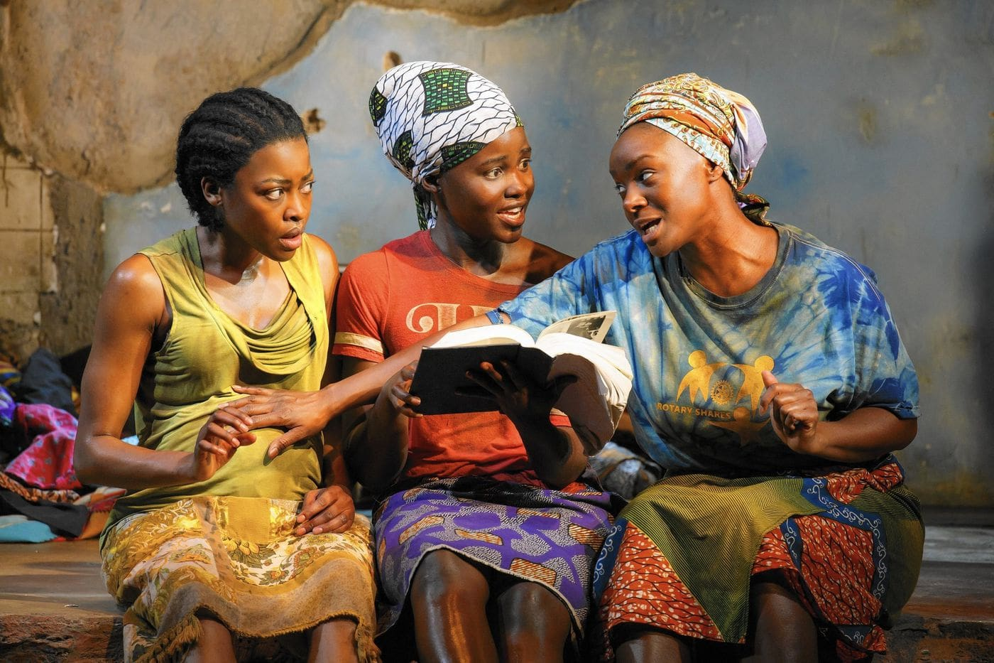 Pascale Armand, Lupita Nyong'o and Saycon Sengbloh in Eclipsed (Photo: Joan Marcus)