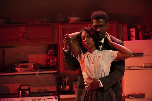 DeWanda Wise and Khris Davis in <i>Fireflies</i> at Atlantic Theater Company (Photo: Ahron R. Foster)