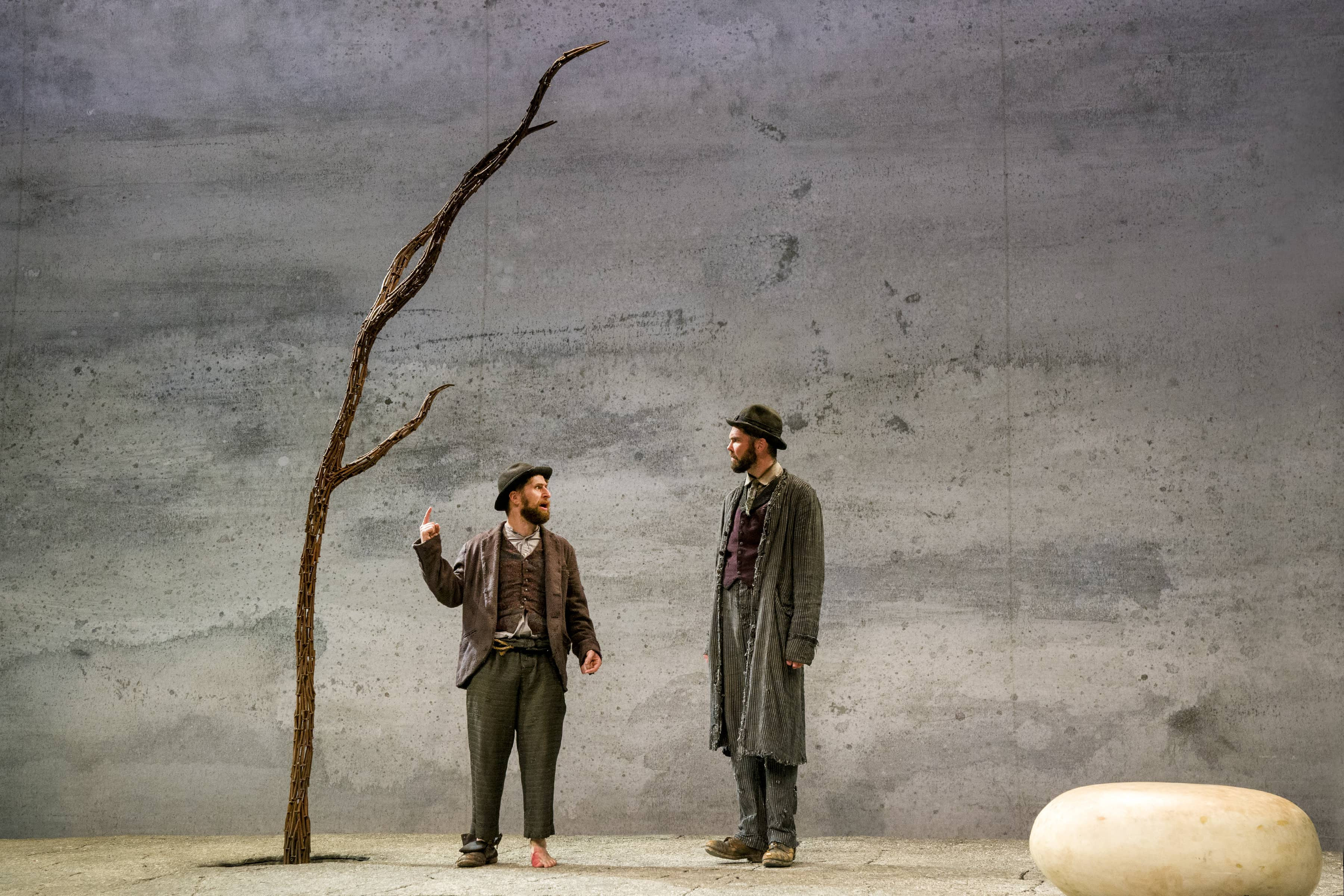 """Waiting for Godot"" at Gerald W. Lynch Theatre (Photo: Richard Termine)"