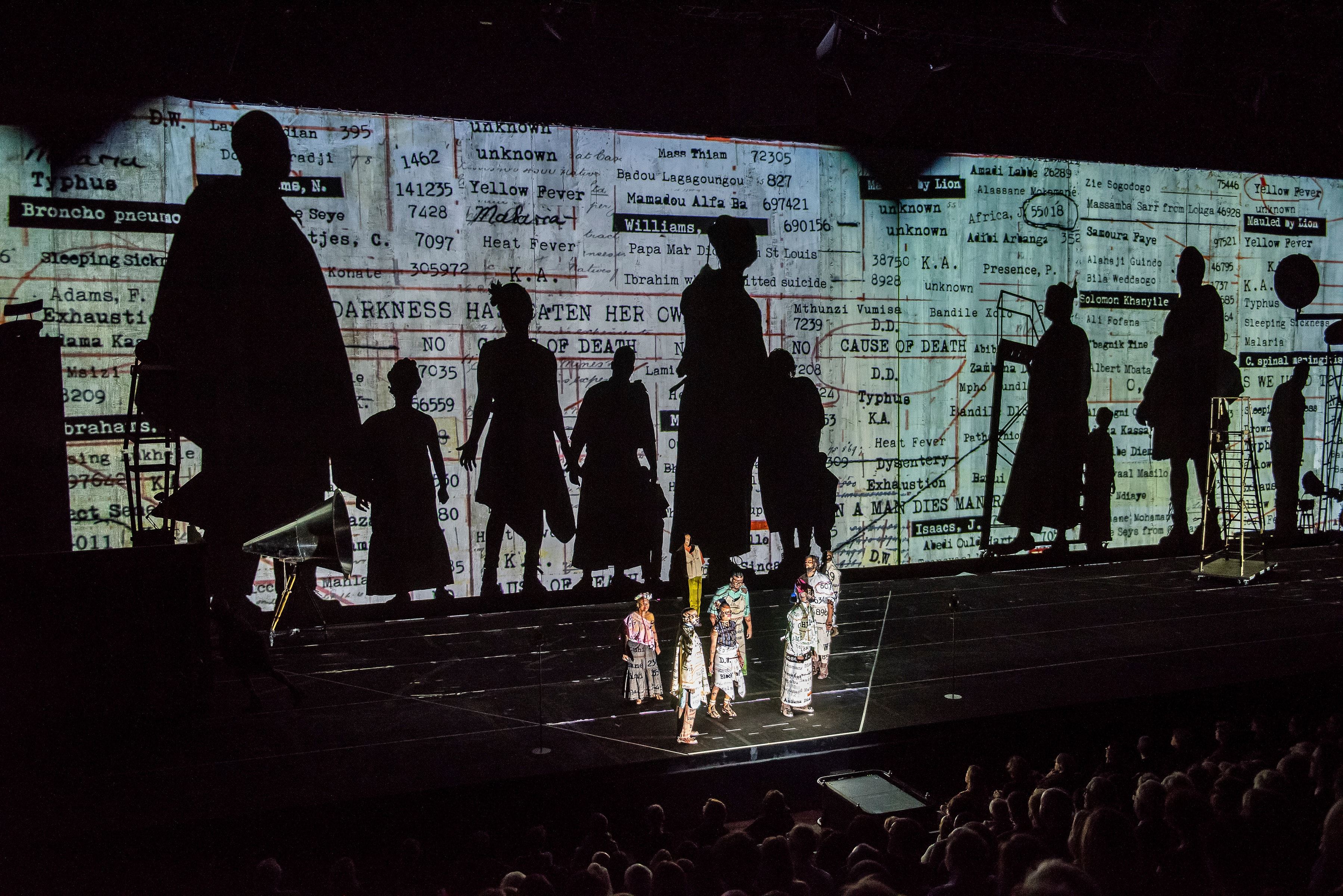 William Kentridge's <i>The Head & The Load </i> at Park Avenue Armory. Photo by Stephanie Berger.