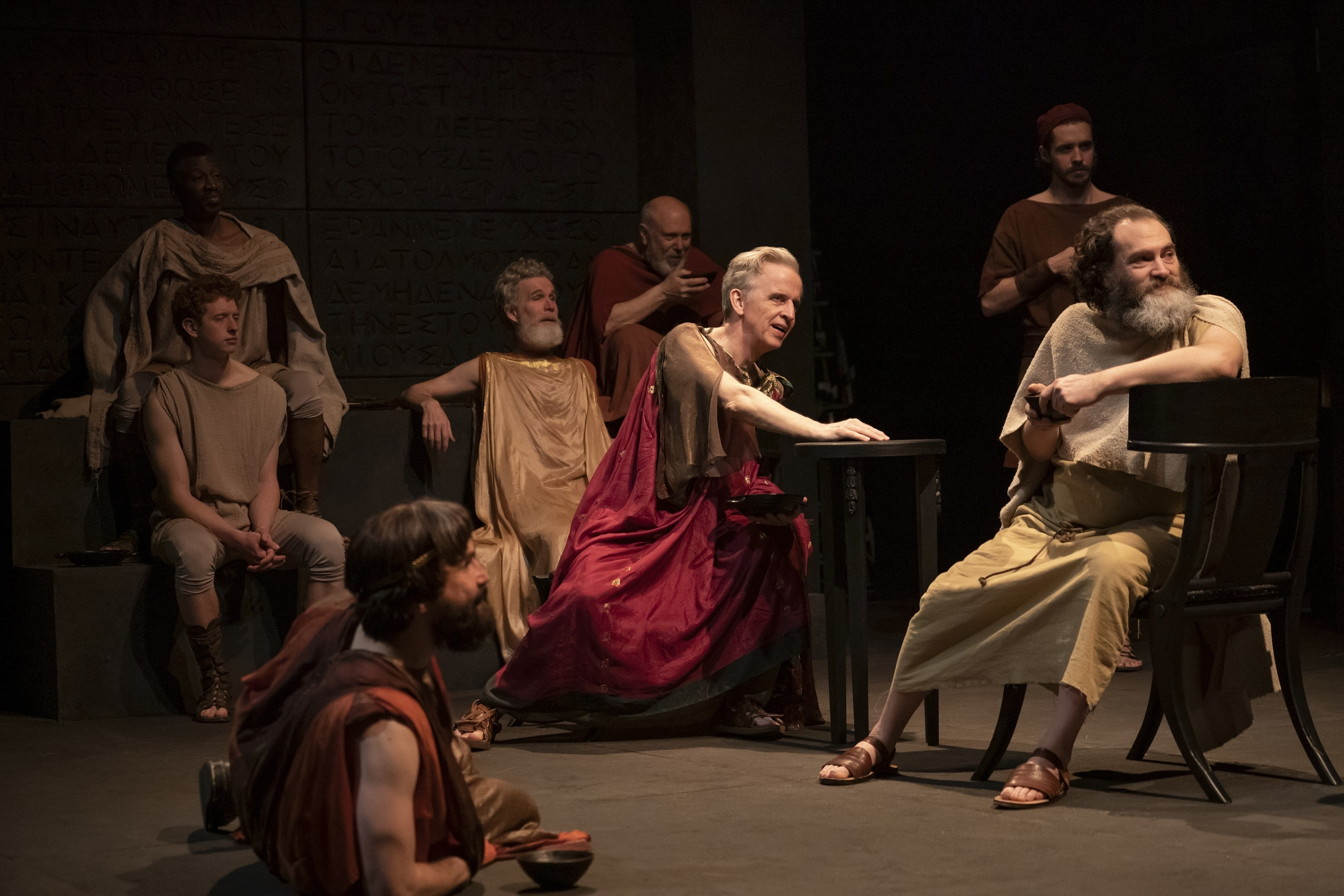 """Socrates"" at the Public Theater (Photo: Joan Marcus)"