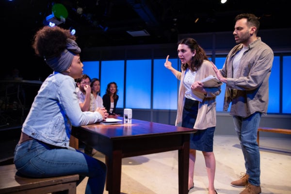 Amber Reauchean Williams, Aadya Bedi, and Ethan Hova in Kate Attwell's JESUS IN MANHATTAN - Photo by Jeremy Daniel