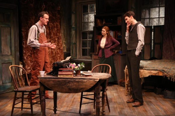 Ed Malone, Meg Hennessy, and James Russell in THE SHADOW OF A GUNMAN (Photo: Carol Rosegg)