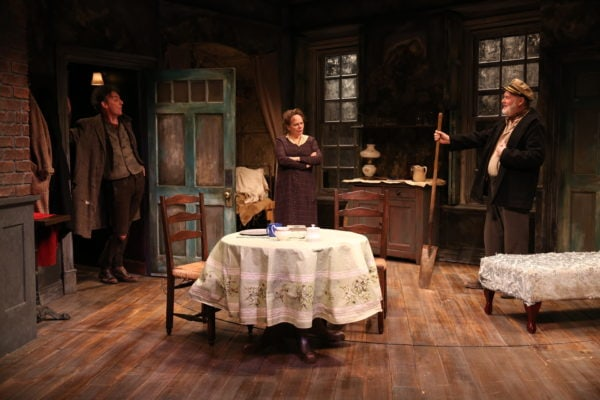 John Keating, Maryann Plunkett, and Ciarán O'Reilly in JUNO AND THE PAYCOCK (Photo: Carol Rosegg)