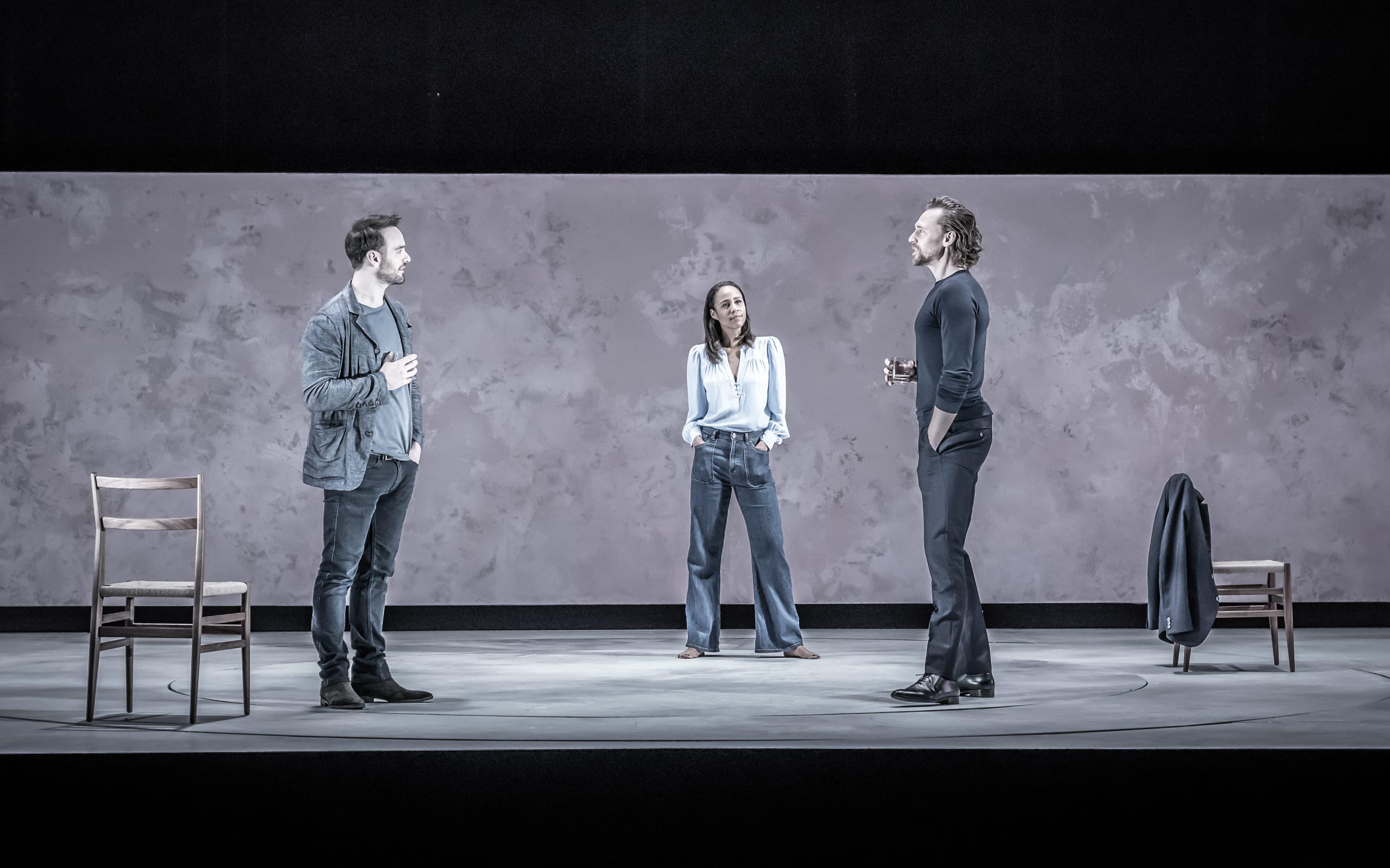 Charlie Cox, Zawe Ashton, Tom Hiddleston (Photo: Marc Brenner)