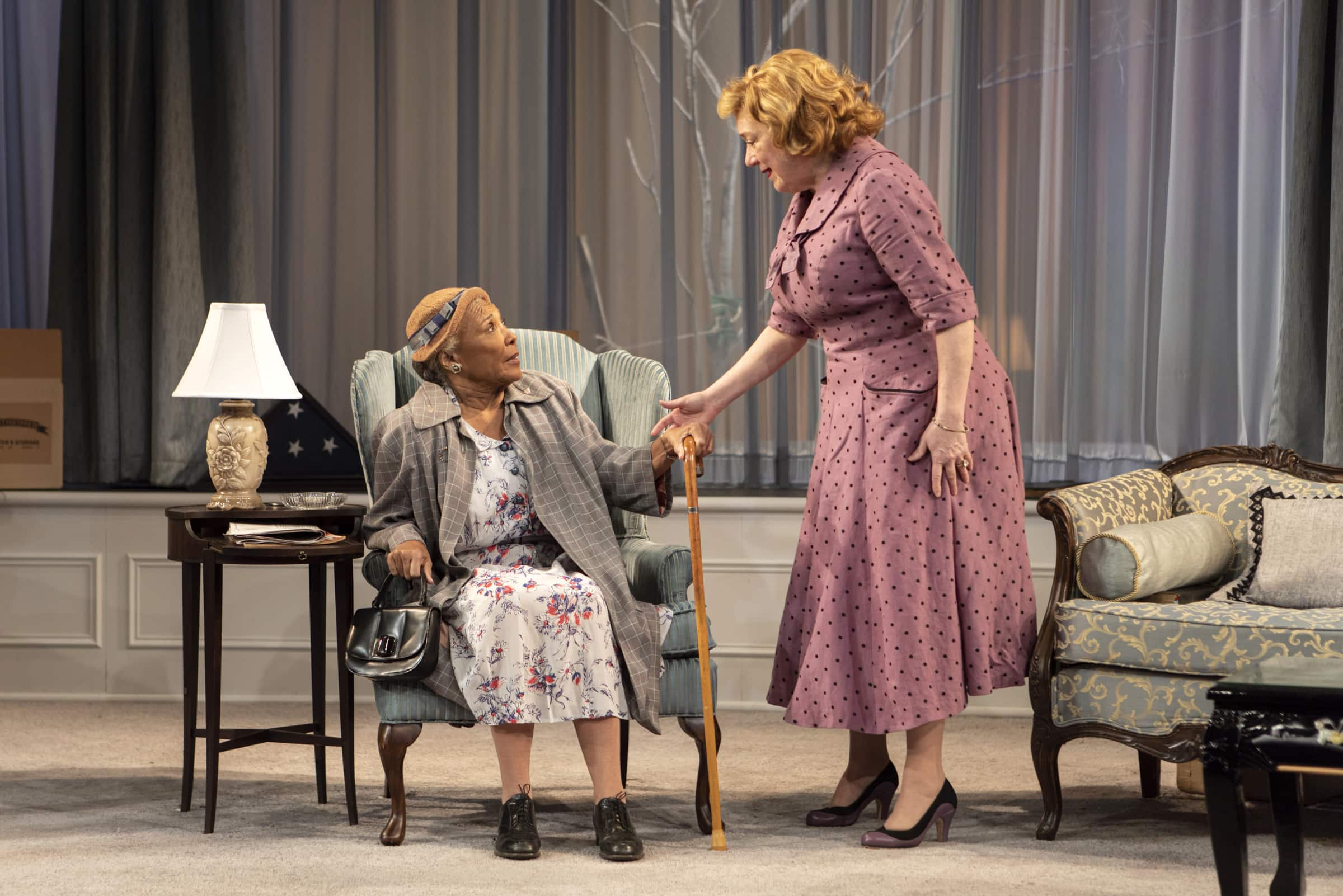 Kristine Nielsen and Pat Bowie in <i>The Young Man from Atlanta</i>. Photo: Monique Carboni