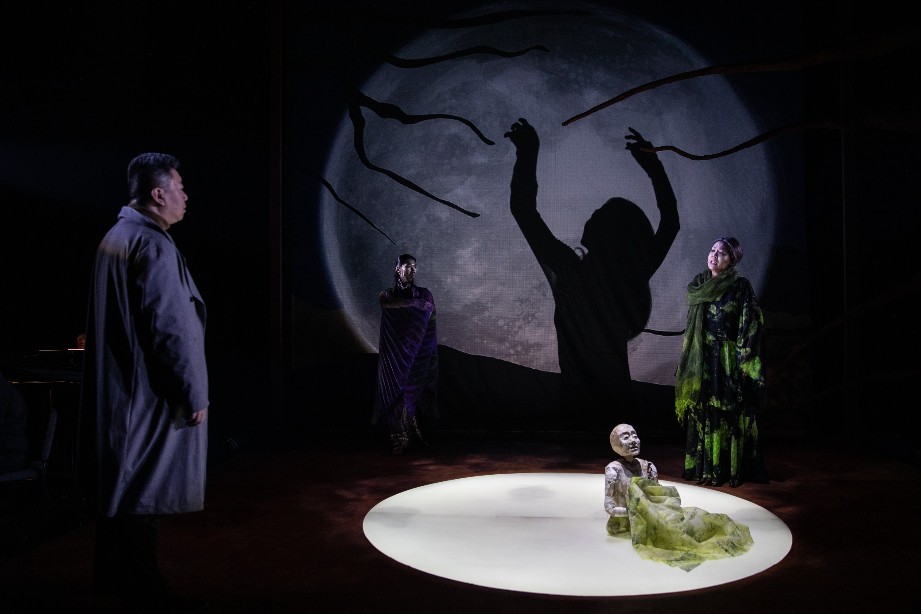 Wei Wu, Juecheng Chen, Takemi Kitamura, and Nina Yoshida Nelsen in <i>Blood Moon</i>. Photo: Maria Baranova