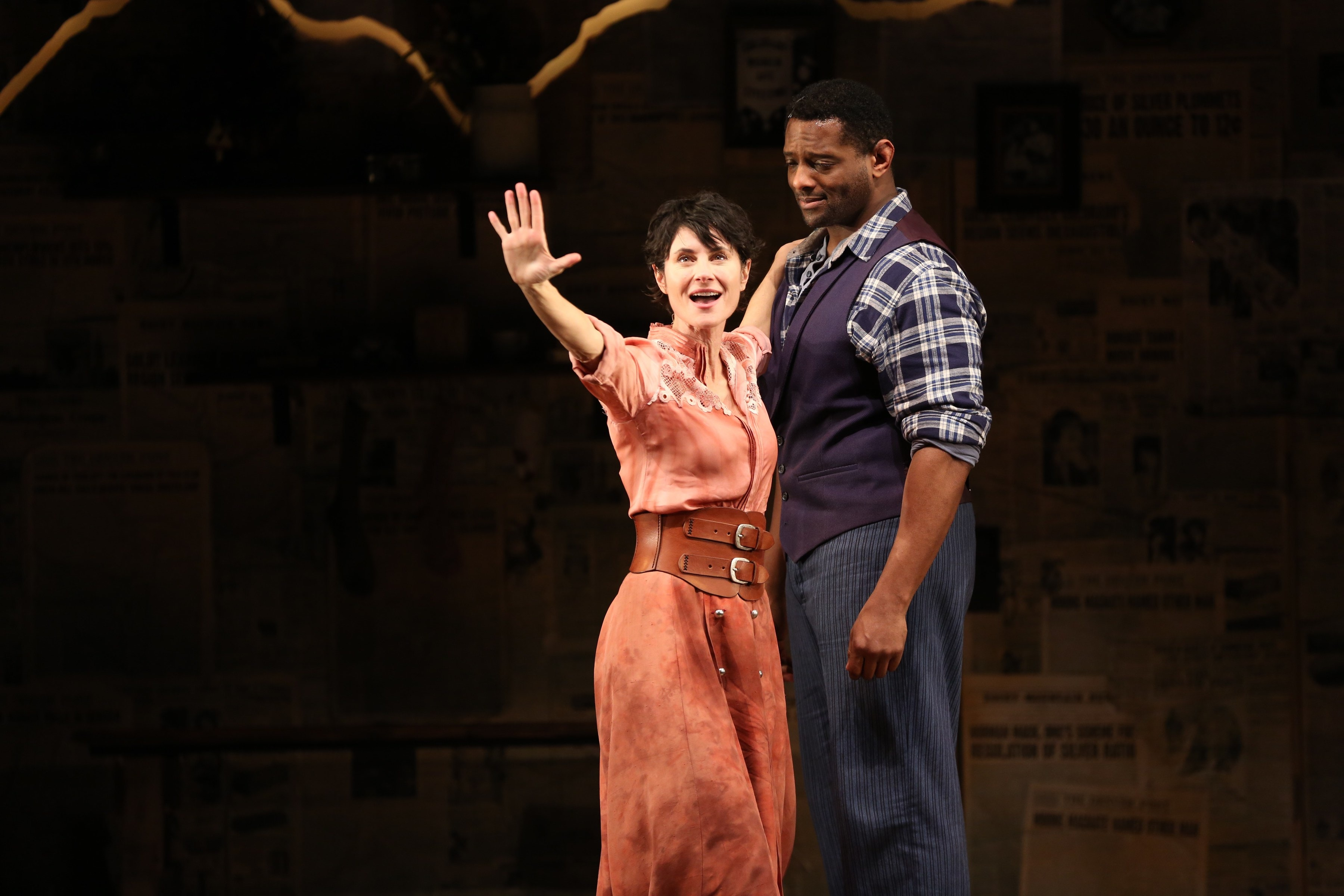 Beth Malone and David Aron Damane in <i>The Unsinkable Molly Brown</i>